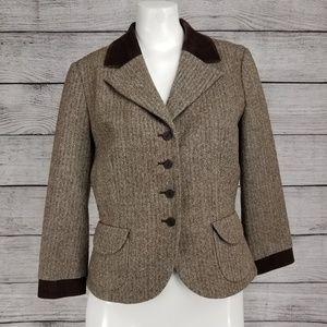 Nordstrom Halogen S Blazer Suit Jacket Herringbone